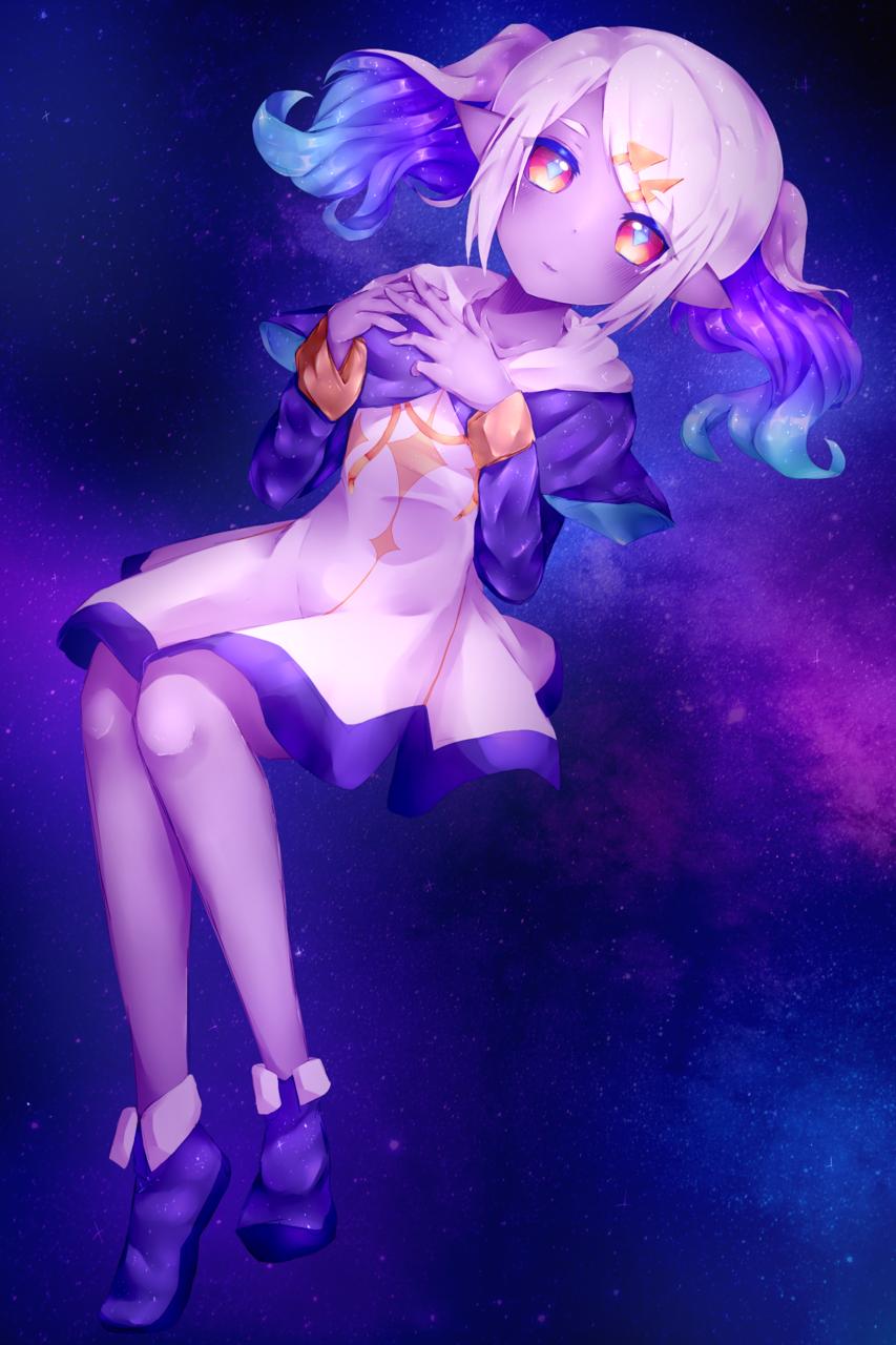 (FanArt) When a star falls Illust of hebeta space girl webcomic cute illustration fanart alien manga original