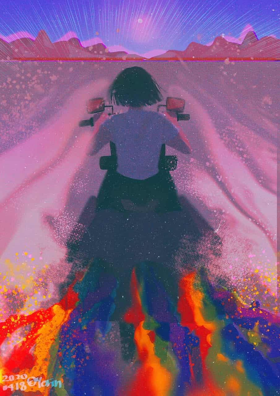 Rainbow Desert Illust of 하나두울 April.2020Contest:Color desert medibangpaint rainbow