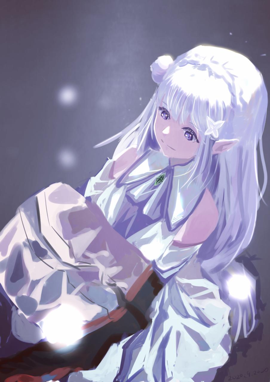 エミリア(艾米莉亚 Illust of 咸鱼三流 medibangpaint Re:Zero