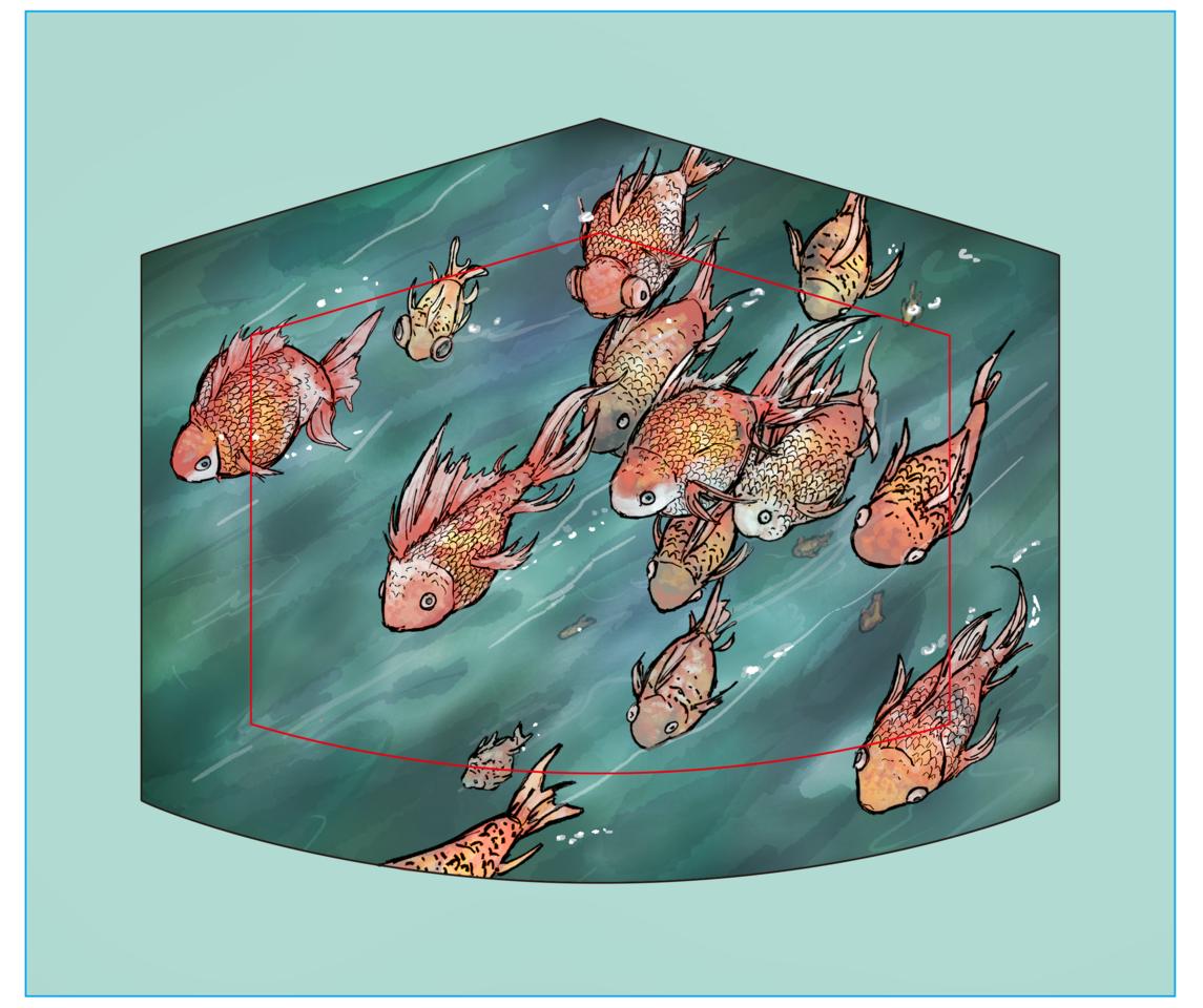 f Illust of 2147 MaskDesignContest fish mask