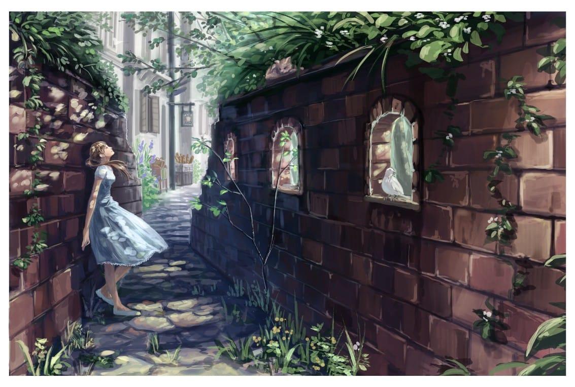 Illust of サン scenery original background