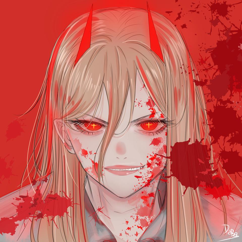 チェンソーマン:POWER Illust of daba_illust fanart painting medibangpaint anime illustration Comics ChainsawMan cute art