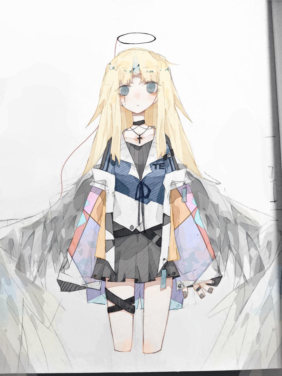 摸下女鹅 Illust of AIRsolubilizer medibangpaint oc girl