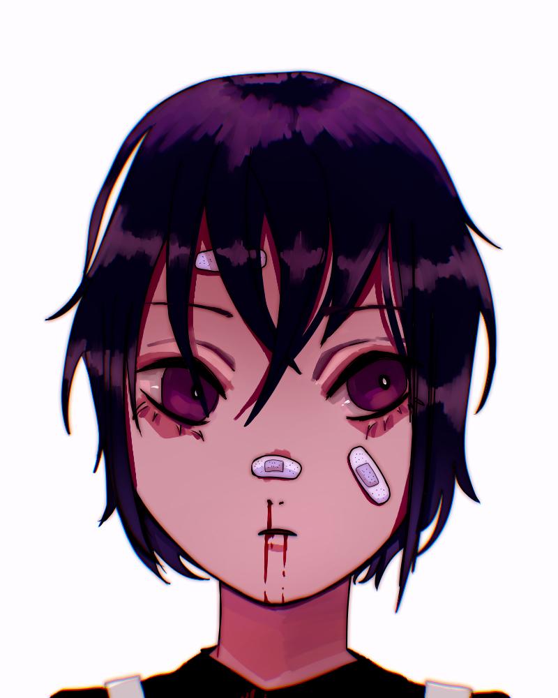 ouch Illust of monrura medibangpaint bandage oc