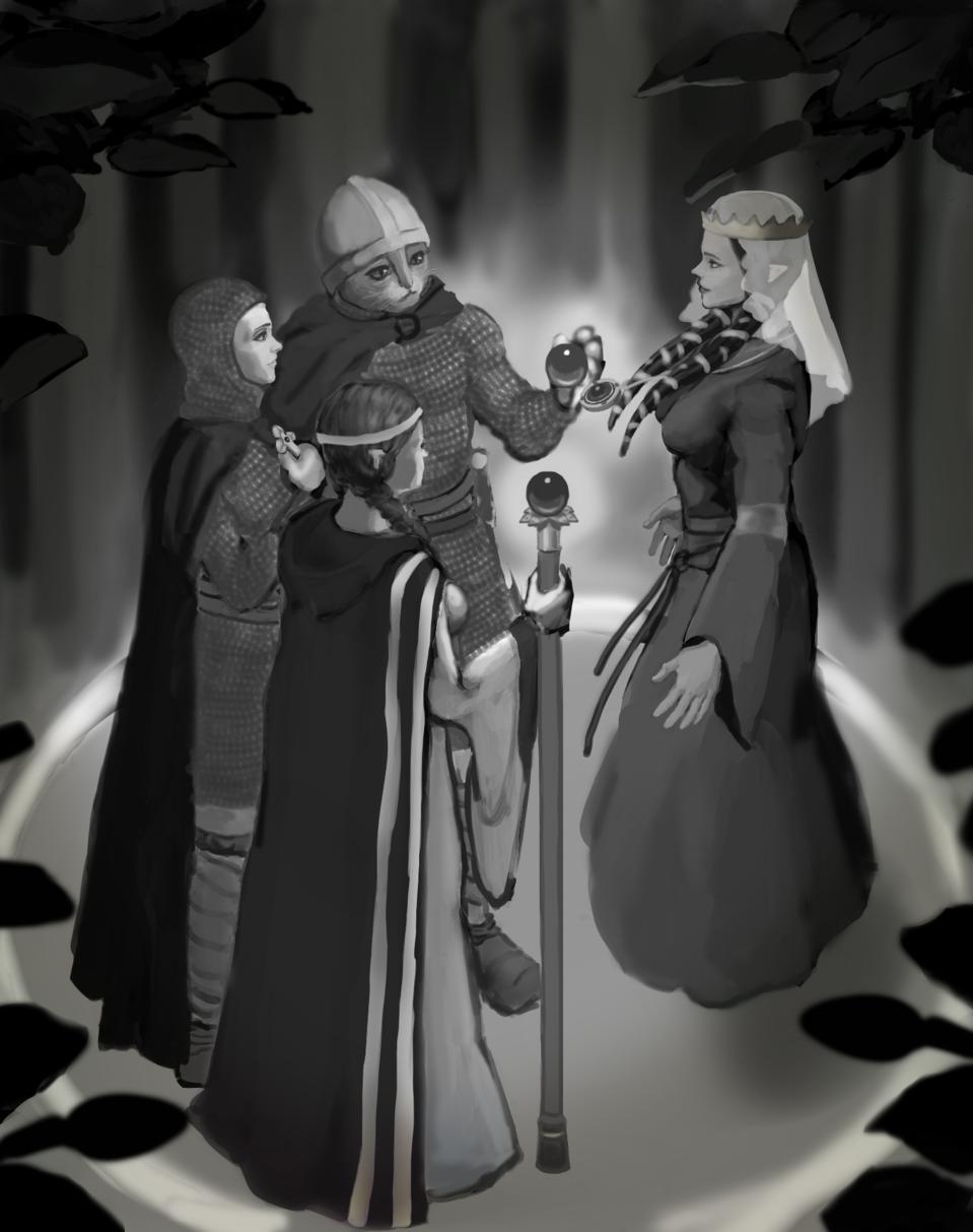 Medieval Fantasy Illust of lemondrops February2021_Fantasy