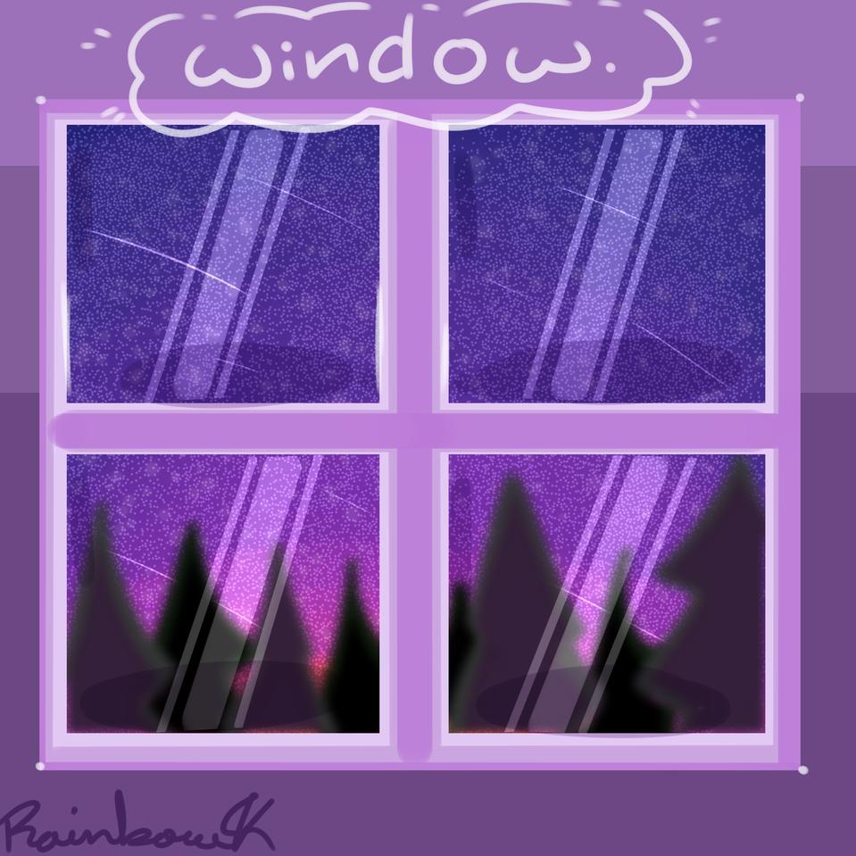 w i n d o w . Illust of •Rainbow the Skeleton UwU• medibangpaint