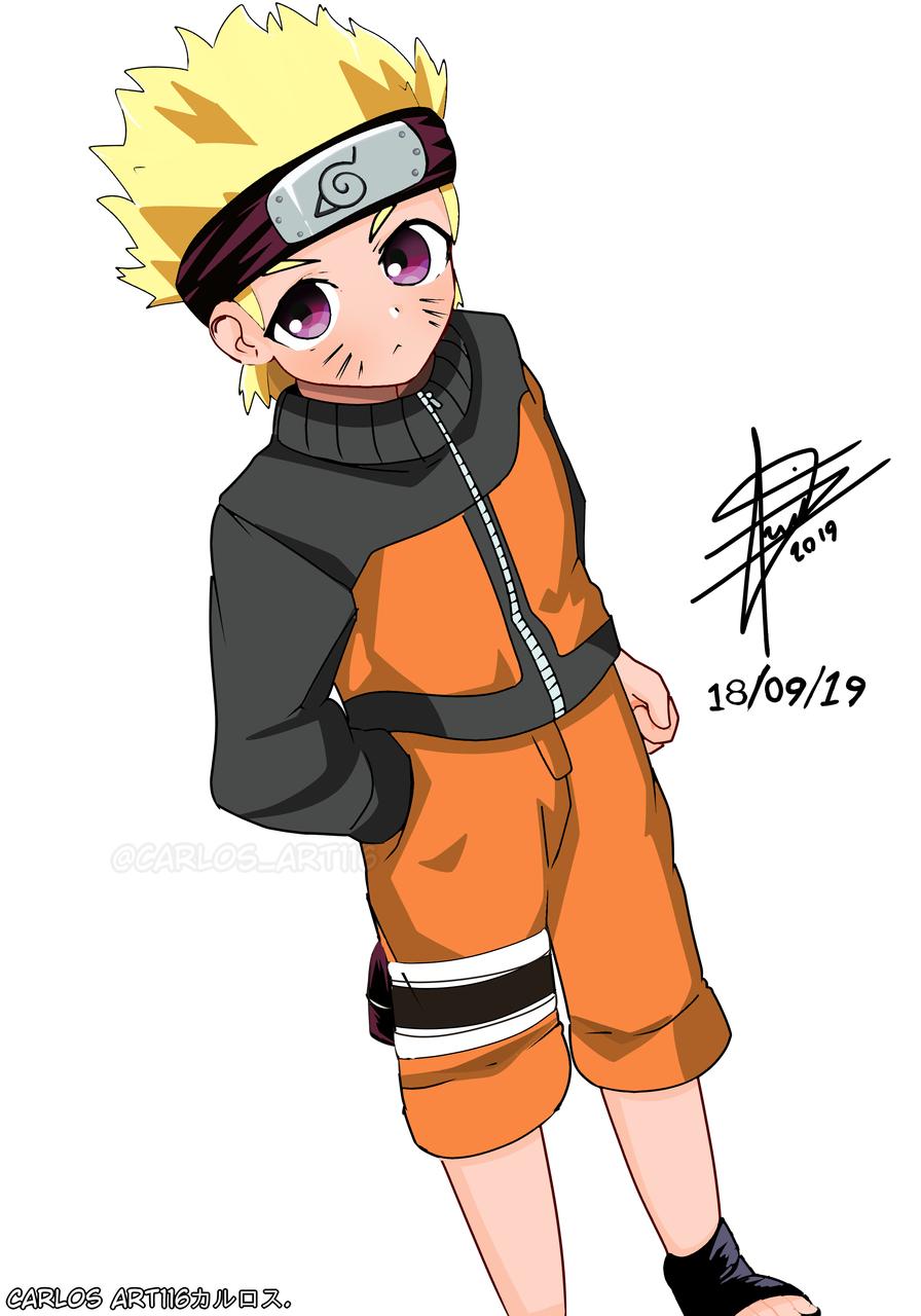 naruto uzumaki(dibujado con mi estiló)