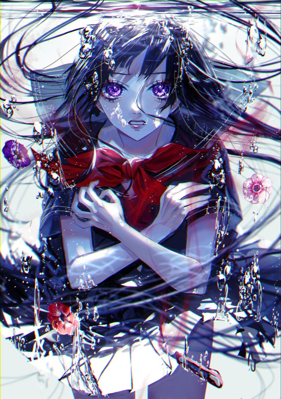 鬱懐の君 Illust of logA underwater girl flower original sailor_uniform