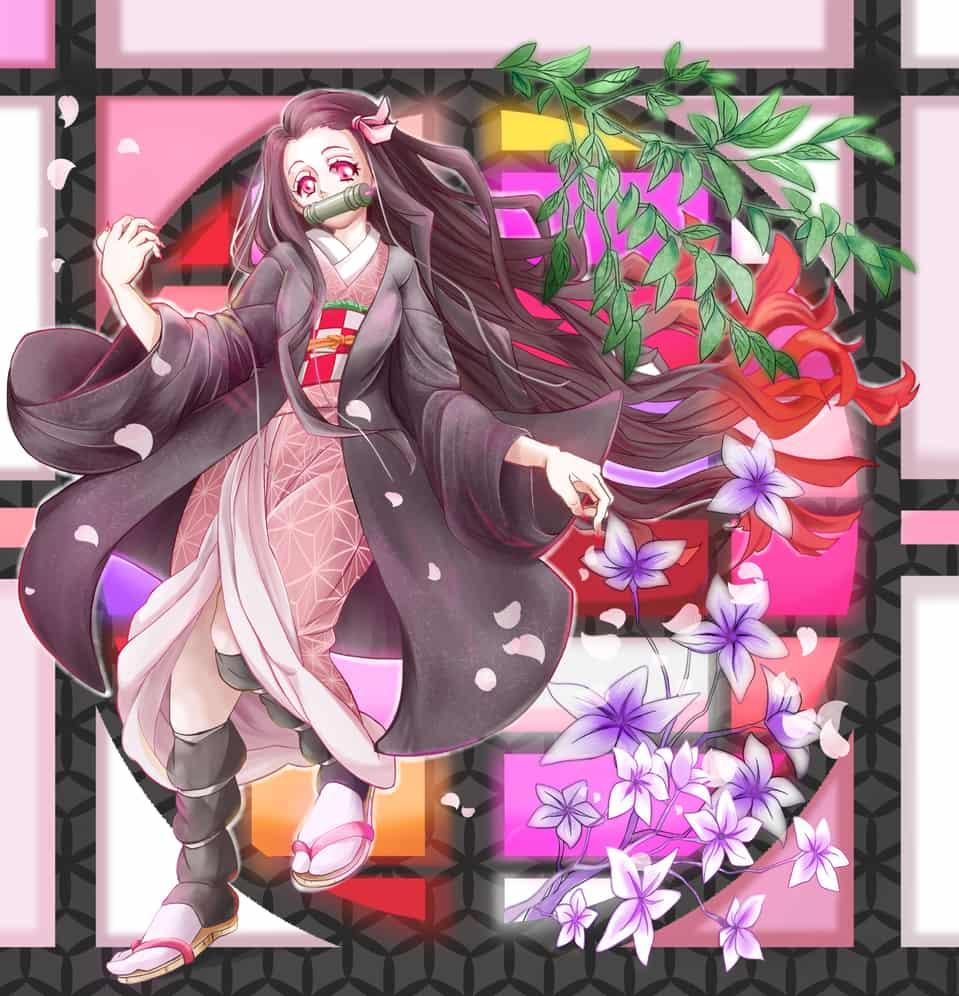 禰豆子 Illust of 鬼餅 DemonSlayerFanartContest eyes KamadoNezuko 竈門 KimetsunoYaiba
