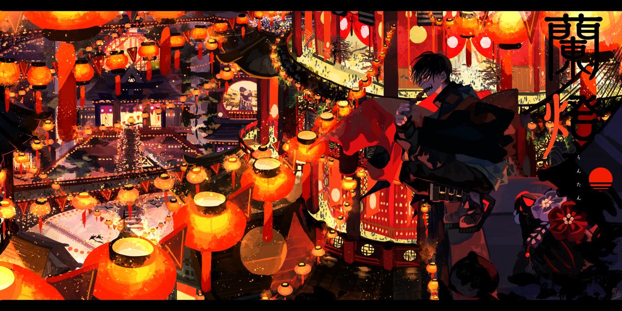 蘭燈 -らんたん- Illust of 鴉羽 凛燈 medibangpaint scenery original