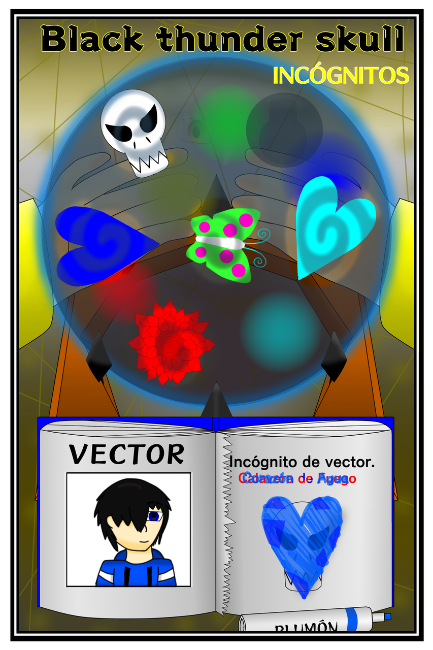 Black thunder skull 💀 Illust of VectorAlex medibangpaint vector Comics Incognitos portada Negativo