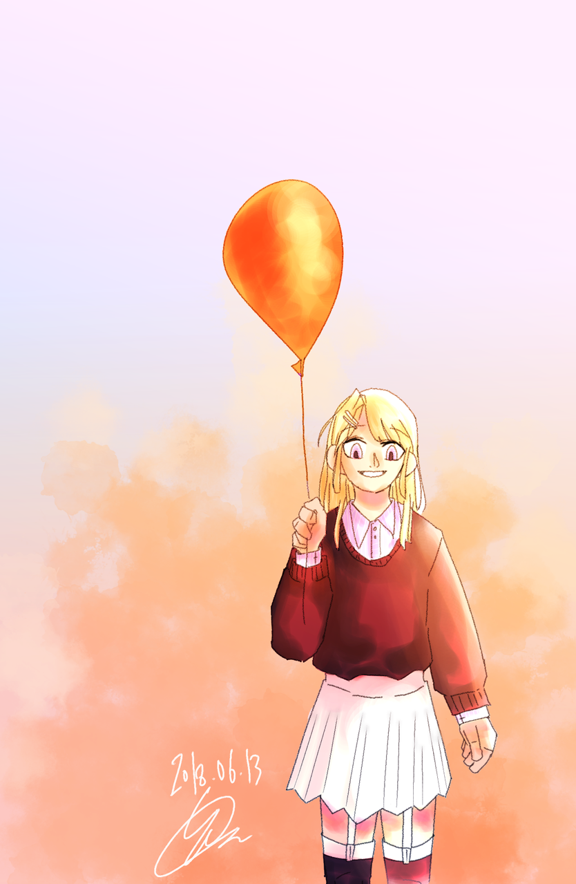 리메이크 Illust of 하나두울 remake girl Balloon