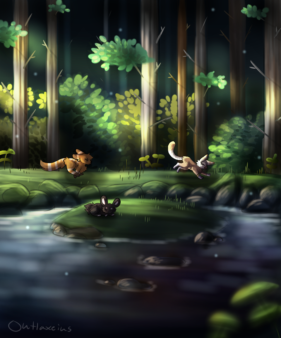 Forest Illust of Outlaxieus original forest scenery animal