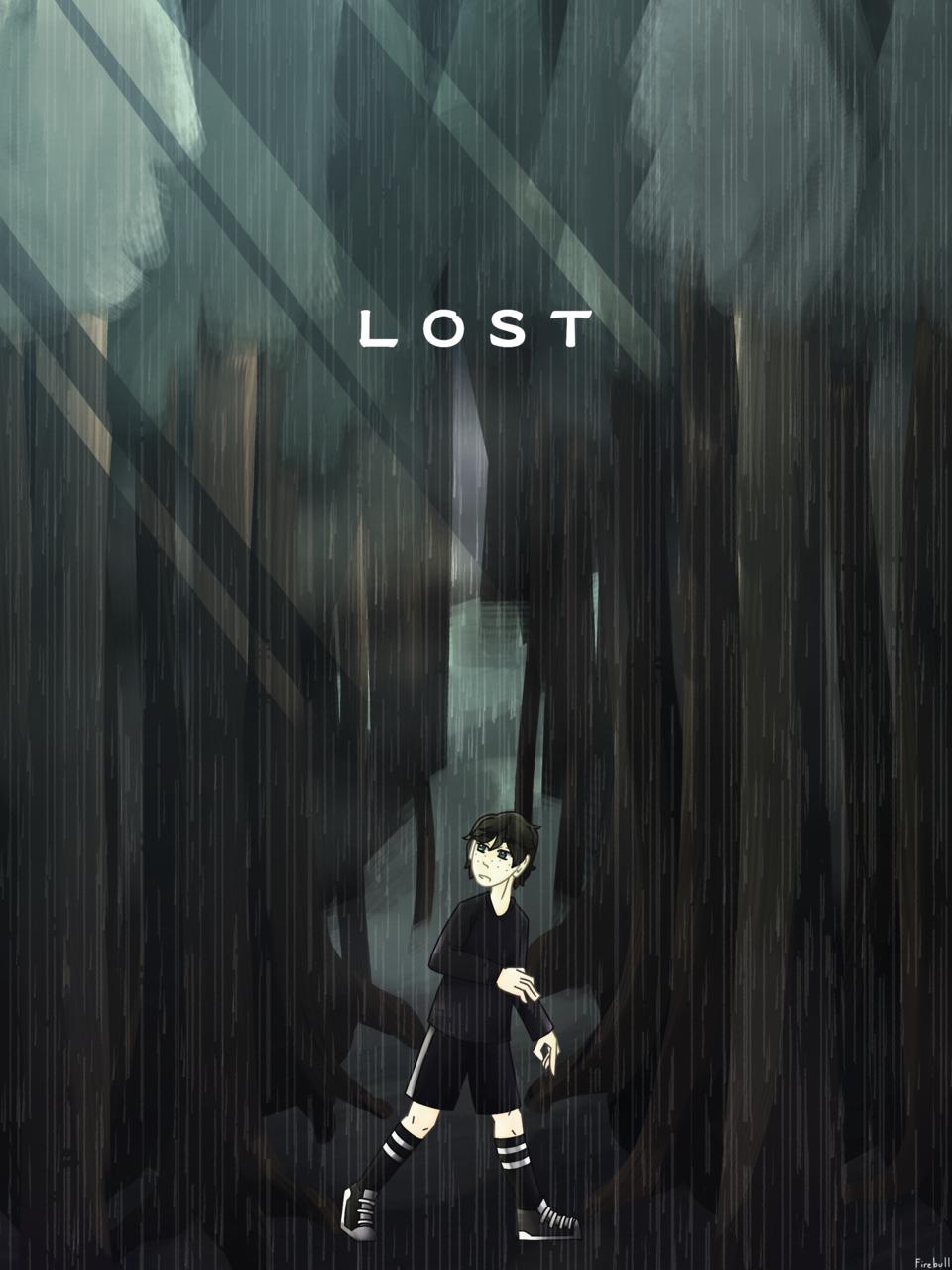 The Woods Illust of Firebull medibangpaint rain forest gray