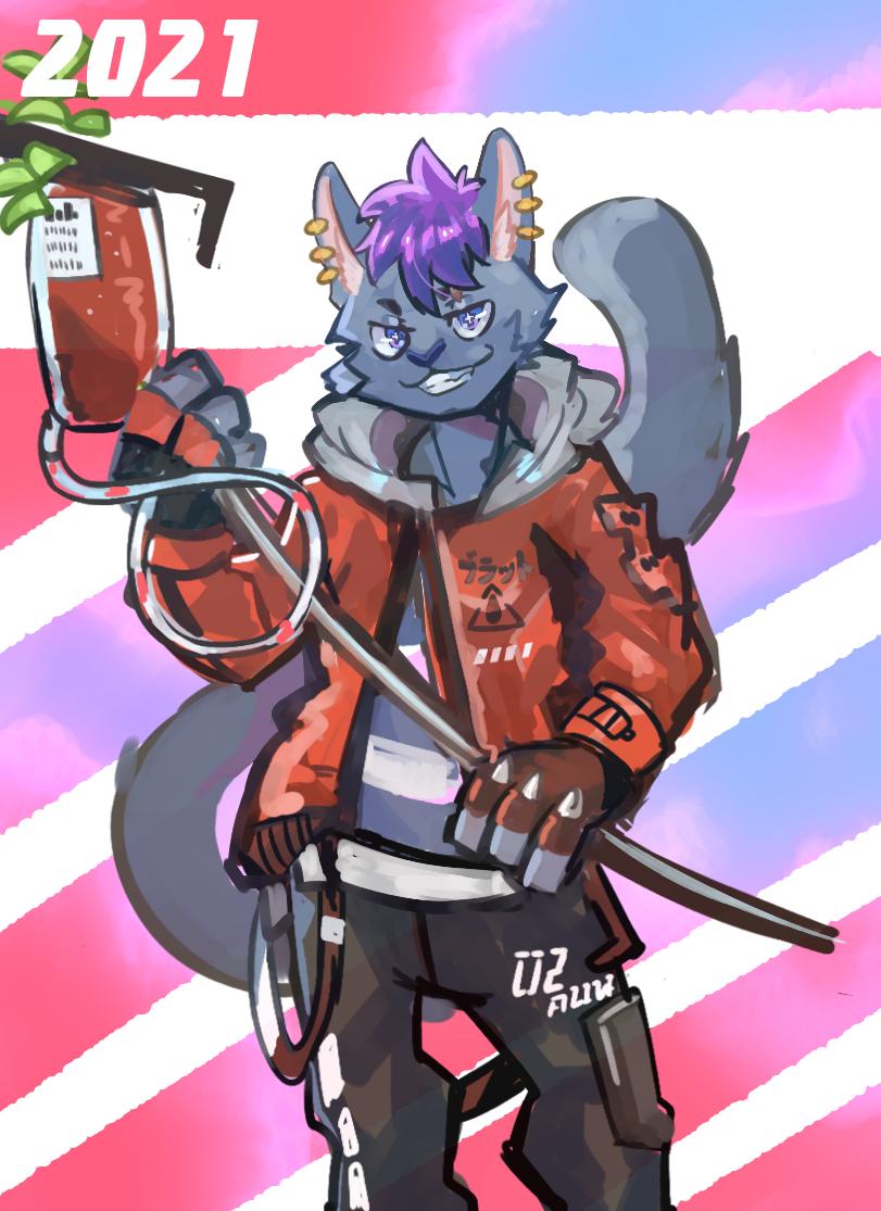 友達 Illust of 肯尼吉 獸人 red cyberpunk furry