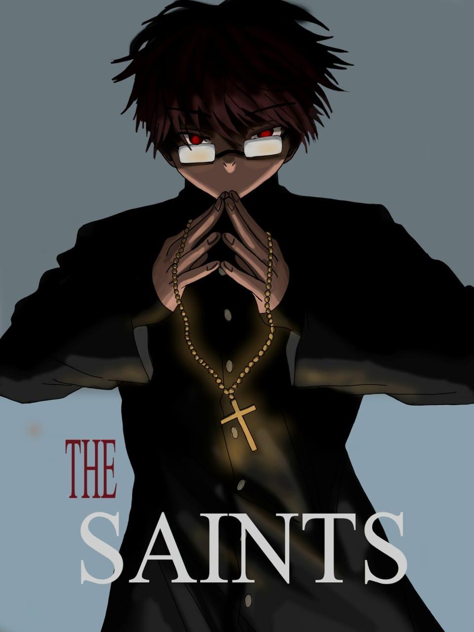 The Saint cover. Illust of Yuri Black Zero medibangpaint painting Saint Priest color illustration Cover portrait