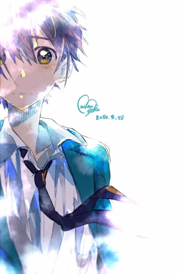 少年 Illust of 星野 ゆか@再浮上 Original_Illustration_Contest boy blue eyes ブレザー uniform 水彩風