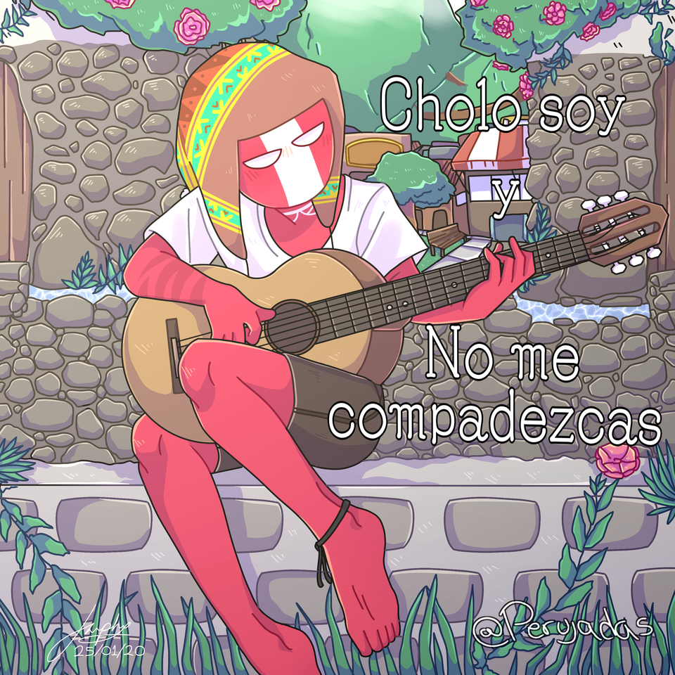 Ollantaytambo - Perú 🇵🇪 Illust of NishireUp ✨ brag.your.country medibangpaint Countryhumans Perú