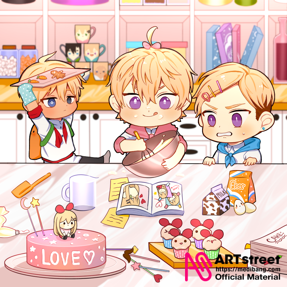 Bake with love Illust of Tomoki tracedrawing TopAgency Trace&Draw【Official】