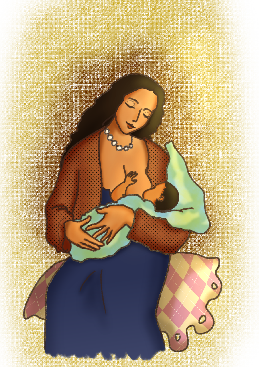 Mother and Child Illust of CJustMe medibangpaint smile ethiopia woman habesha beautiful project iPad_raffle ethiopian baby warm