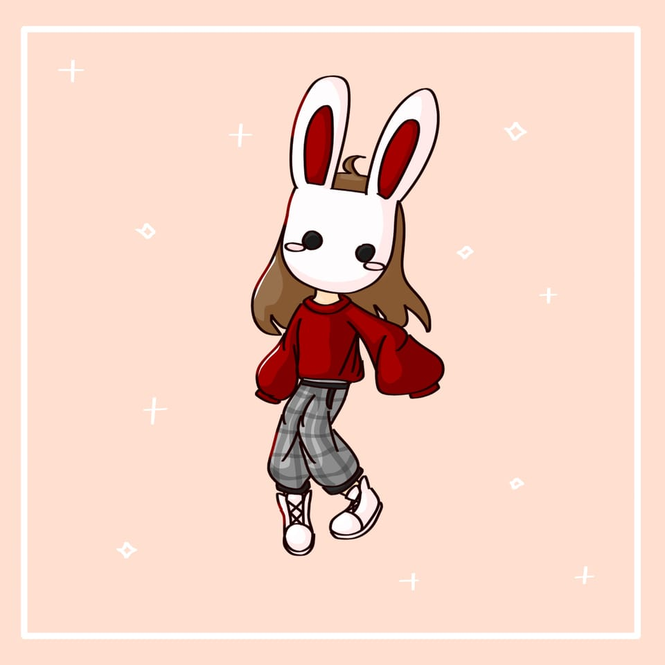 Request from Rose_gold Illust of Ledi_=) cute girl bunny request mask