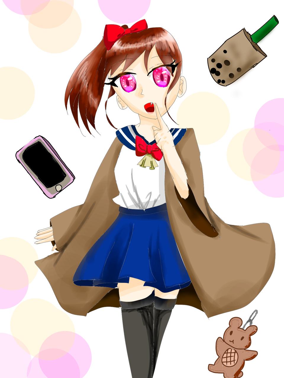 女の子 Illust of 彩芽 小6 ワンドロ girl kawaii uniform レッツワンドロ
