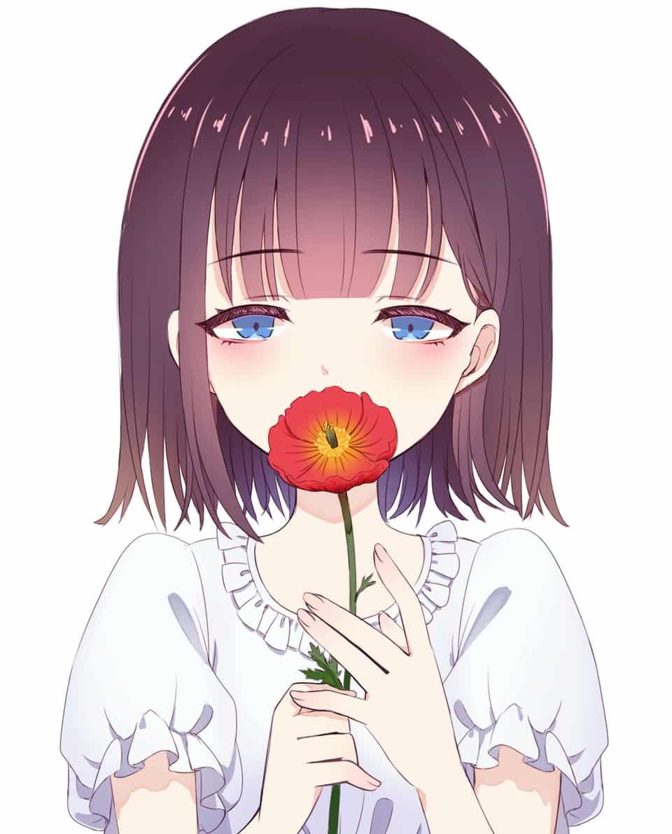 ポピー Illust of 如月にろ flower girl original