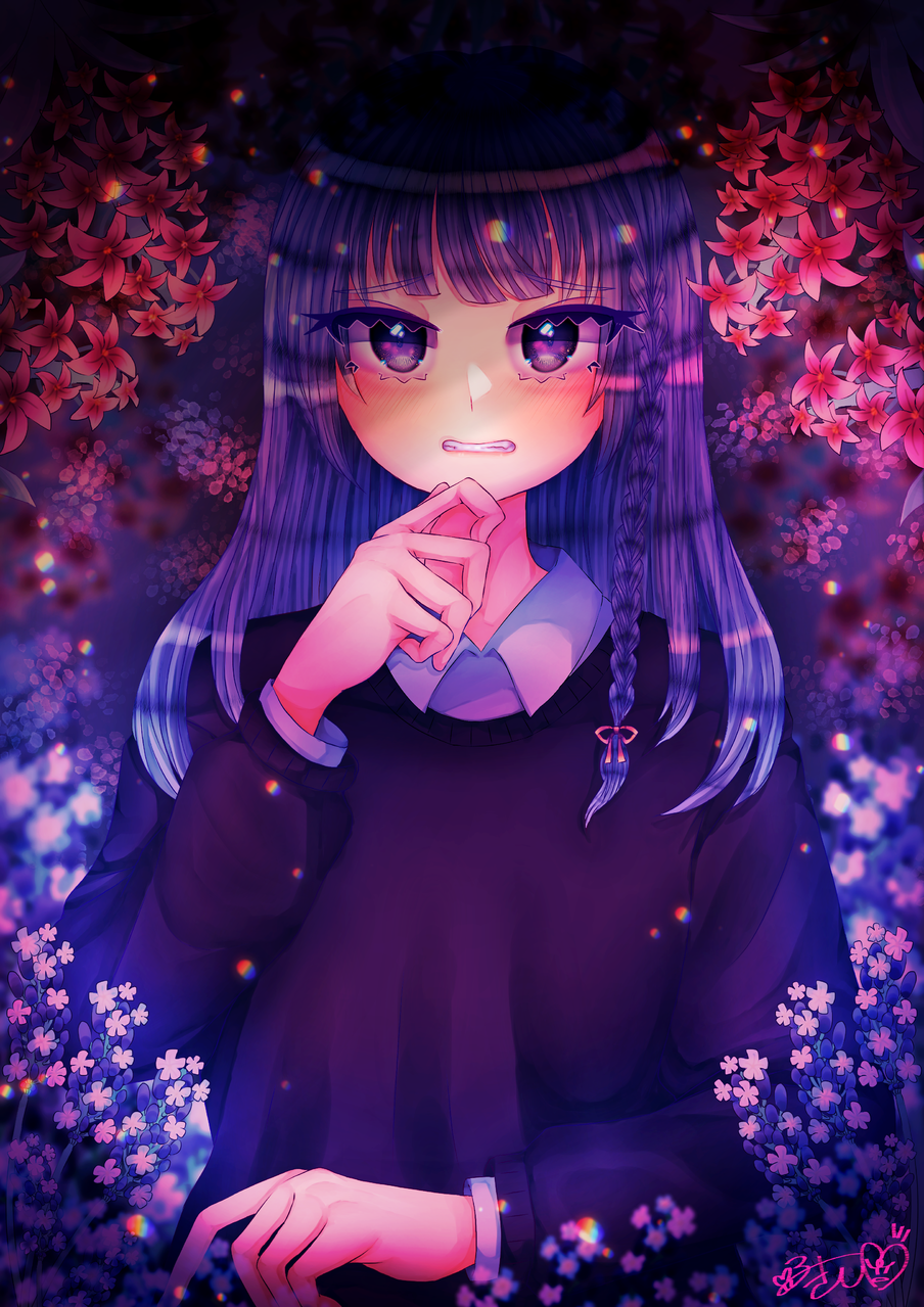 疑雲猜霧 Illust of カツシカルキコ oc girl flower original