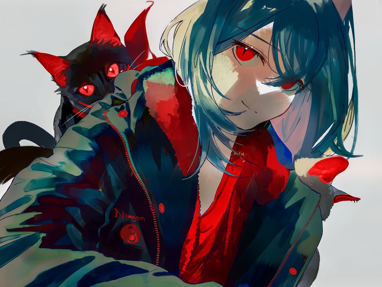 ネコと和解せよ。 Illust of Comuno / Ningen❸ oc cat red original