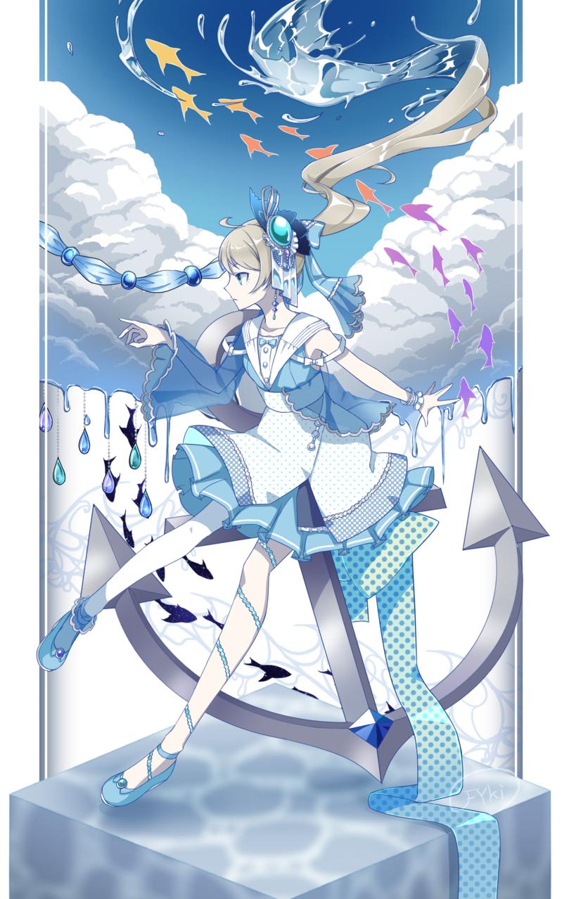 青 Illust of フ雪 original girl water 青空 summer sailor_uniform oc
