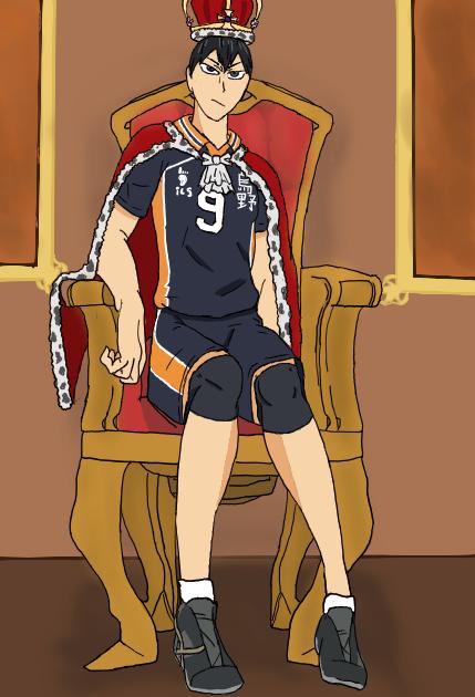 the King Of The Court Illust of Keith/Kisu|Shinso/tHoUsAnD Modes medibangpaint Haikyu!! King background TobioKageyama Shadow