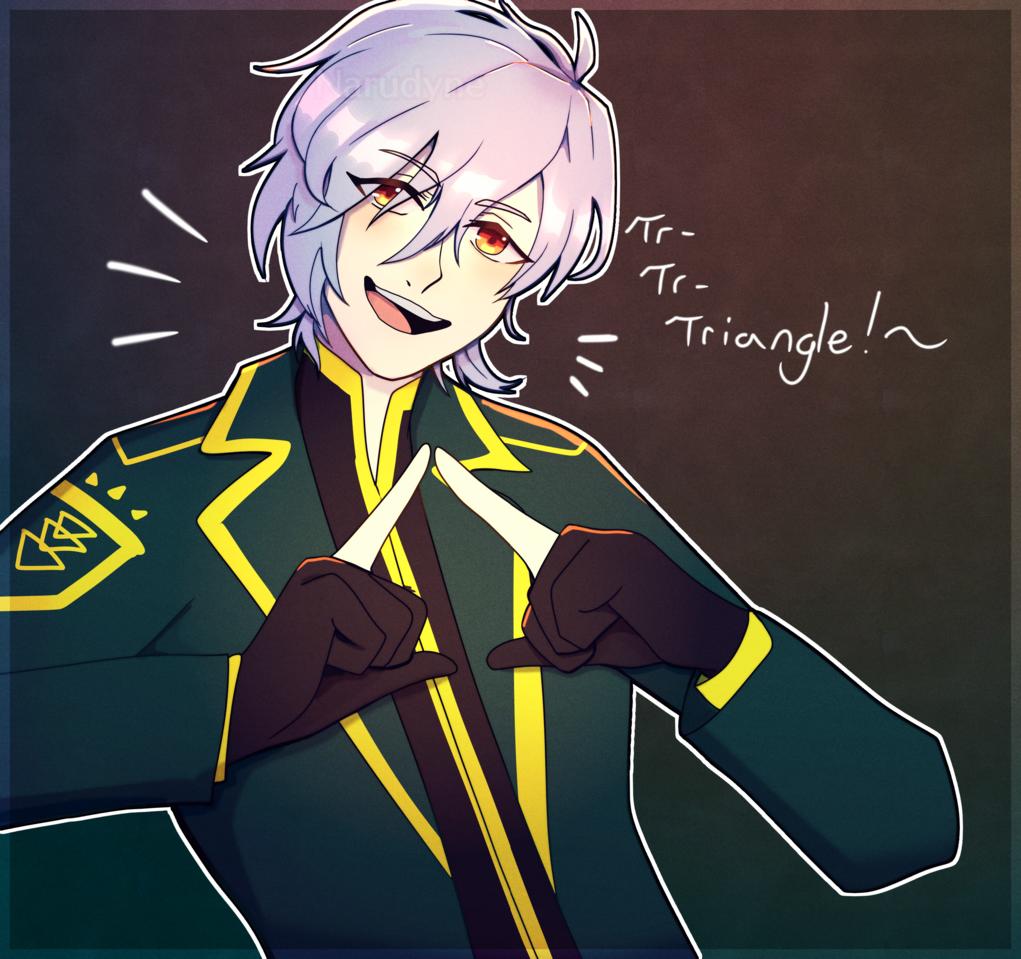 Tri-Tri-Triangle! Illust of ɴᴀʀᴜᴅʏɴᴇ • ᴊɪʀᴏ ʏᴀᴍᴀᴅᴀ digital fanart thisartshouldlvlup boy anime A3!