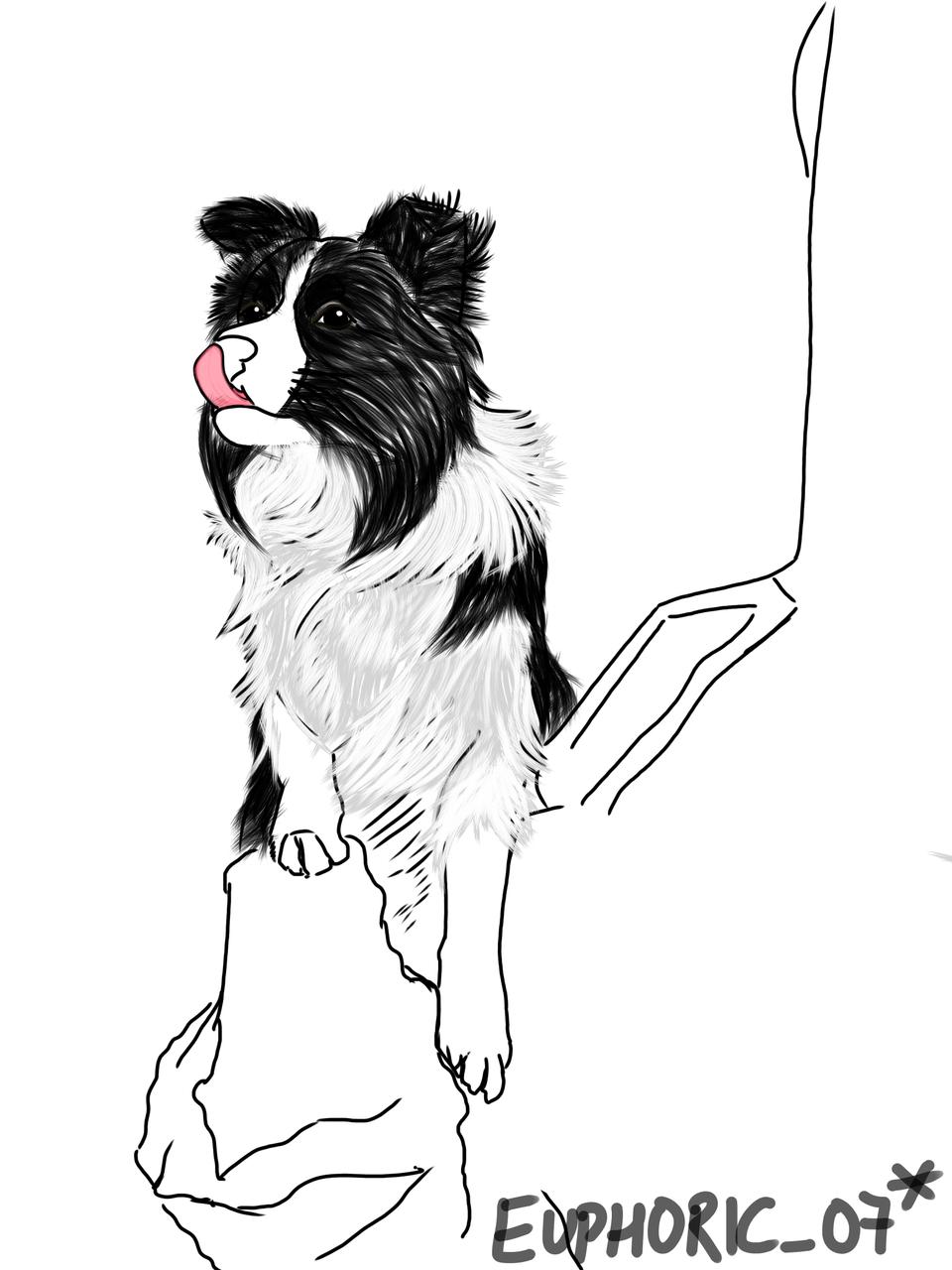 Dog <3!! Illust of Euphoric_07* medibangpaint 1hDrawingChallenge