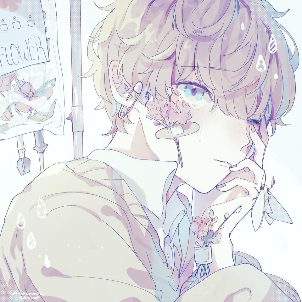 ぽろぽろと花 Illust of るおーるおみ April2021_Flower flower original boy
