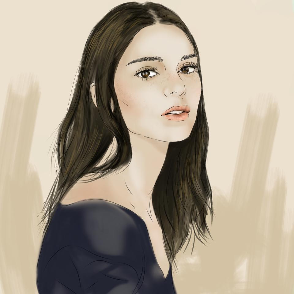 Kendall Illust of daudnov medibangpaint portrait female kendall beauty model kendalljenner kardashian face