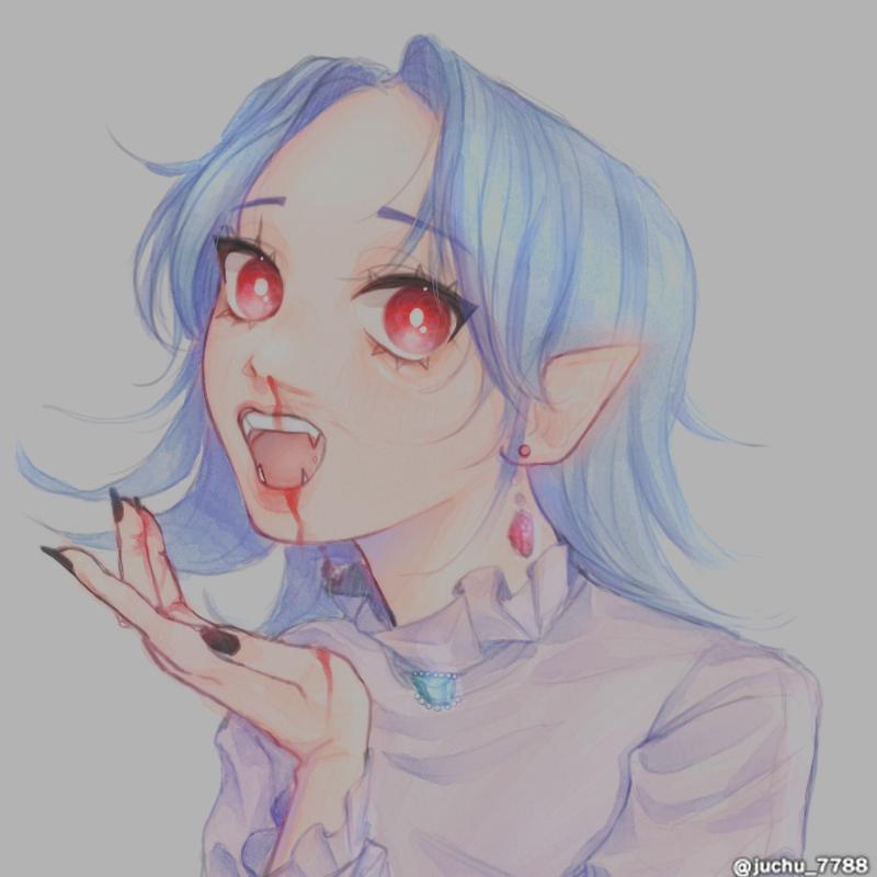 뱀파이어 자캐 Illust of 주ju oc illustration vampire doodle