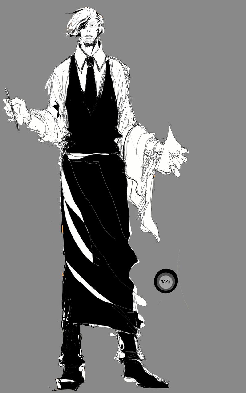 ギャルソンエプロン Illust of 竹ノコ medibangpaint