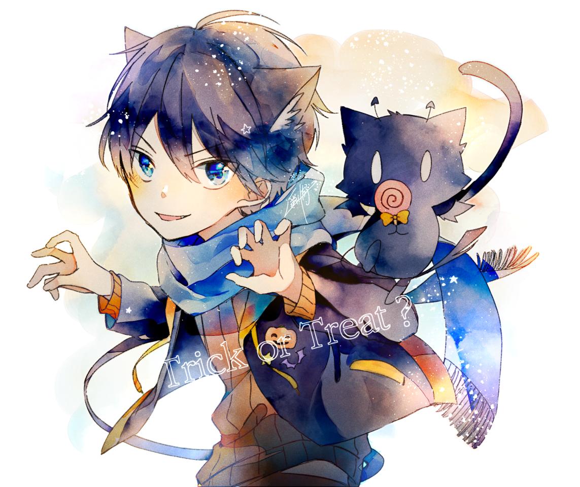 本領発揮の日 Illust of 遥川遊 Oct.2019Contest medibangpaint watercolor Halloween cat_ears animal_ears