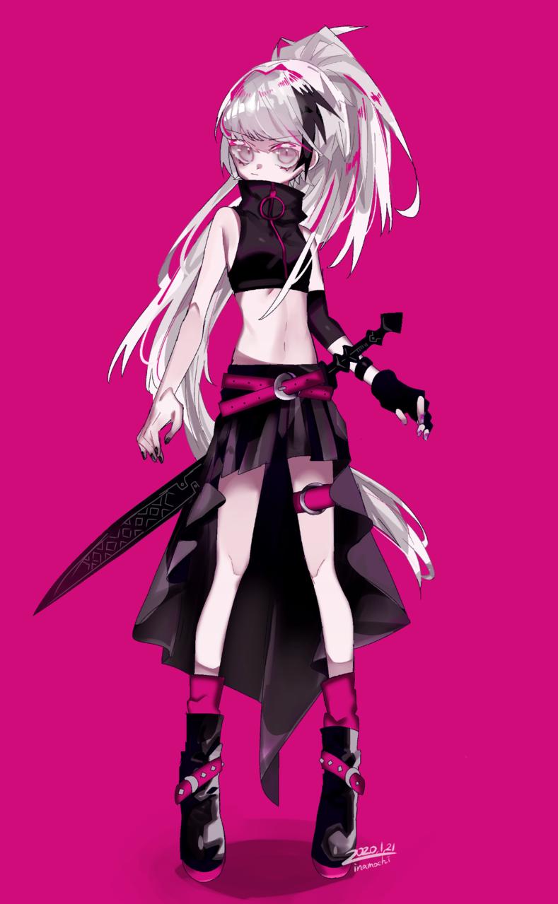 武器女子 Illust of 停止 original 武器 oc girl white_hair
