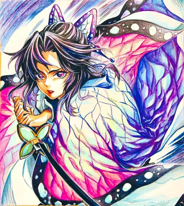 しのぶさん Illust of リゥ DemonSlayerFanartContest KimetsunoYaiba 鬼滅の刃イラストコンテスト KochouShinobu
