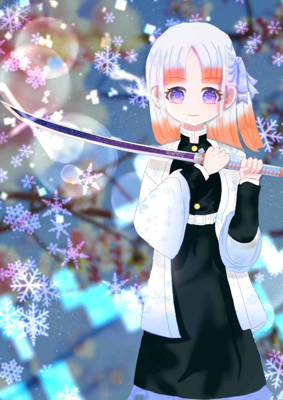 雪解け Illust of 冬路くじら ice girl snow medibang medibangpaint illustration kawaii oc