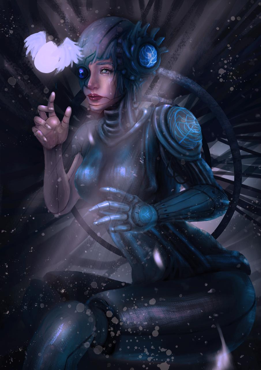 Robot:Life Illust of CHI-NAI November2020_Contest:Cyberpunk woman girl original illustration eyes