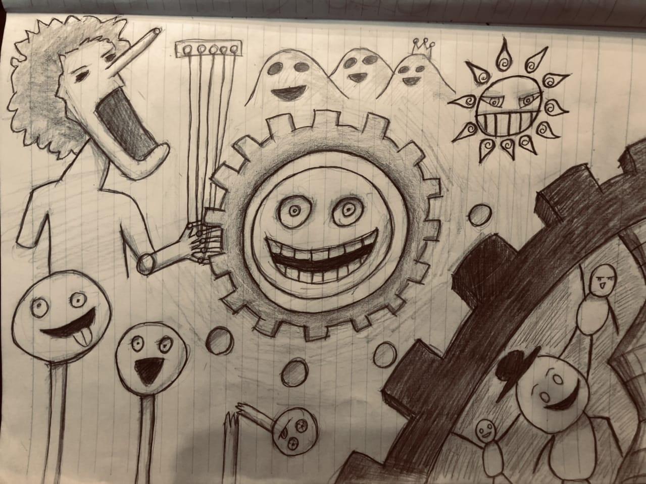 てきとうならくがき Illust of けんせい#アナログ同盟 doodle アナログ てきとうならくがき original illustration AnalogDrawing medibangpaint