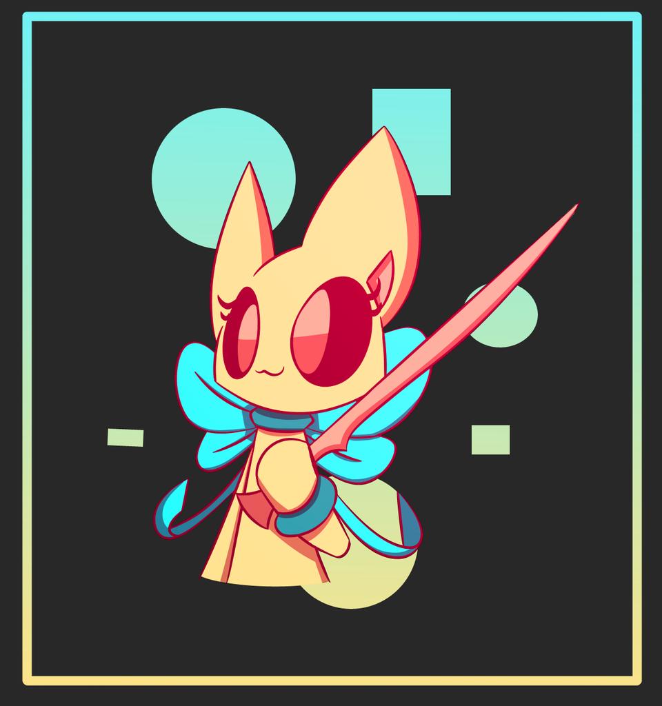 Peach Berry Illust of PopTwist medibangpaint cat sunset sword cute ribbon adorable