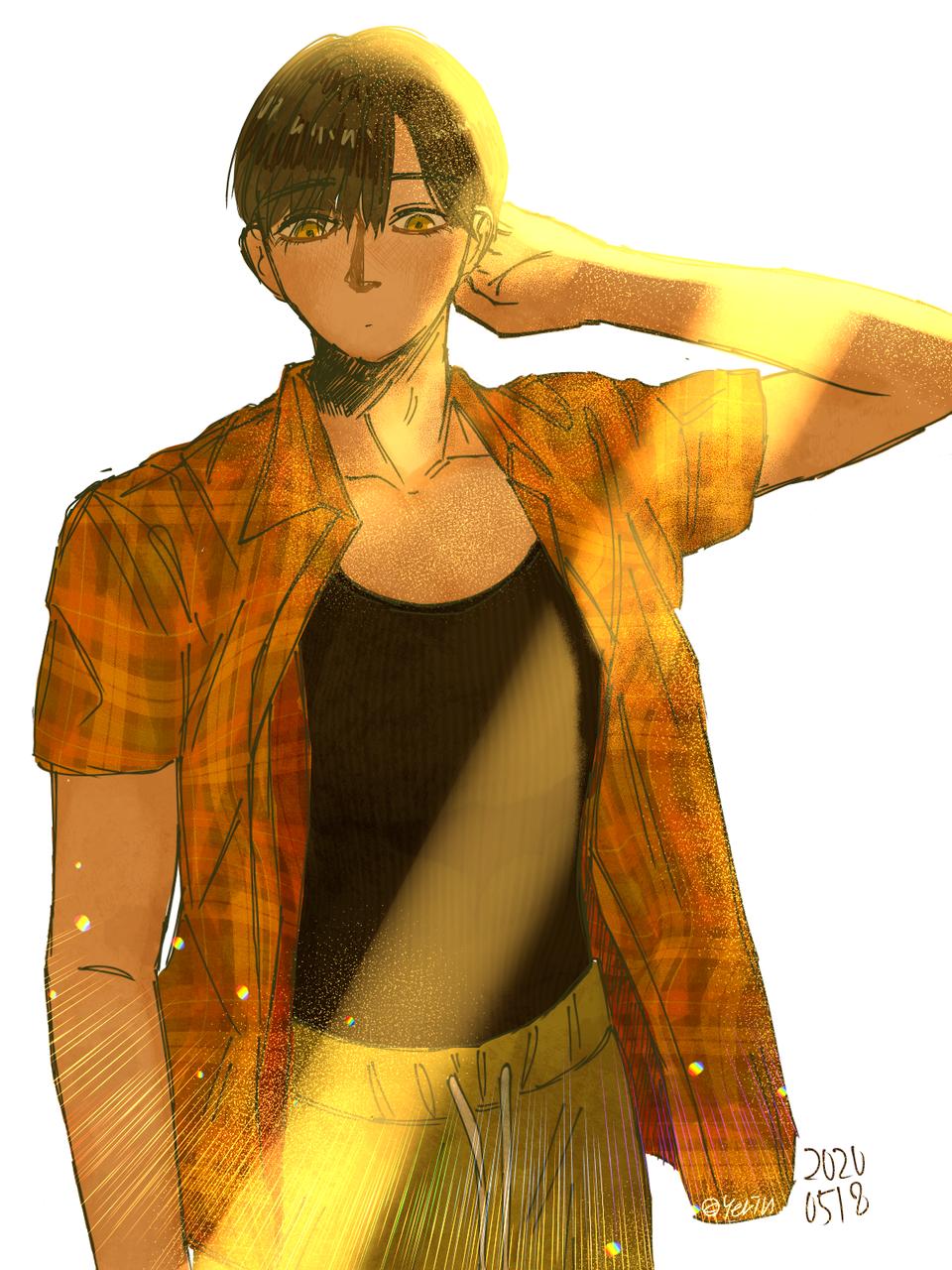 읭 Illust of 하나두울 medibangpaint sunshine boy