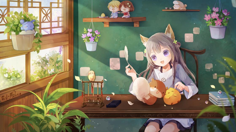 聚 Illust of 雲小栗 girl fox
