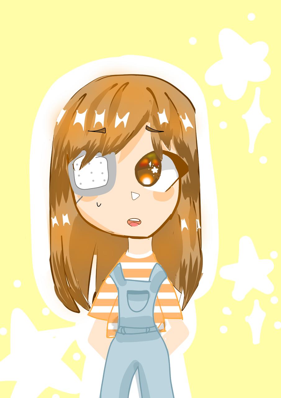 I didn't break it 😐🤞🏼 Illust of ⊂((・⊥・))⊃ orange girl :D Idk pastel cute ⊂((・⊥・))⊃ lol star