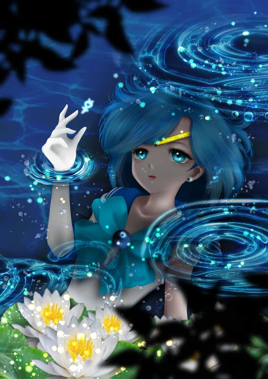 水野亞美-二創 Illust of Janet Chang illustration animedrawing fanfic animeart 奇幻 anime girl 水野亜美 PrettyGuardianSailorMoon medibangpaint