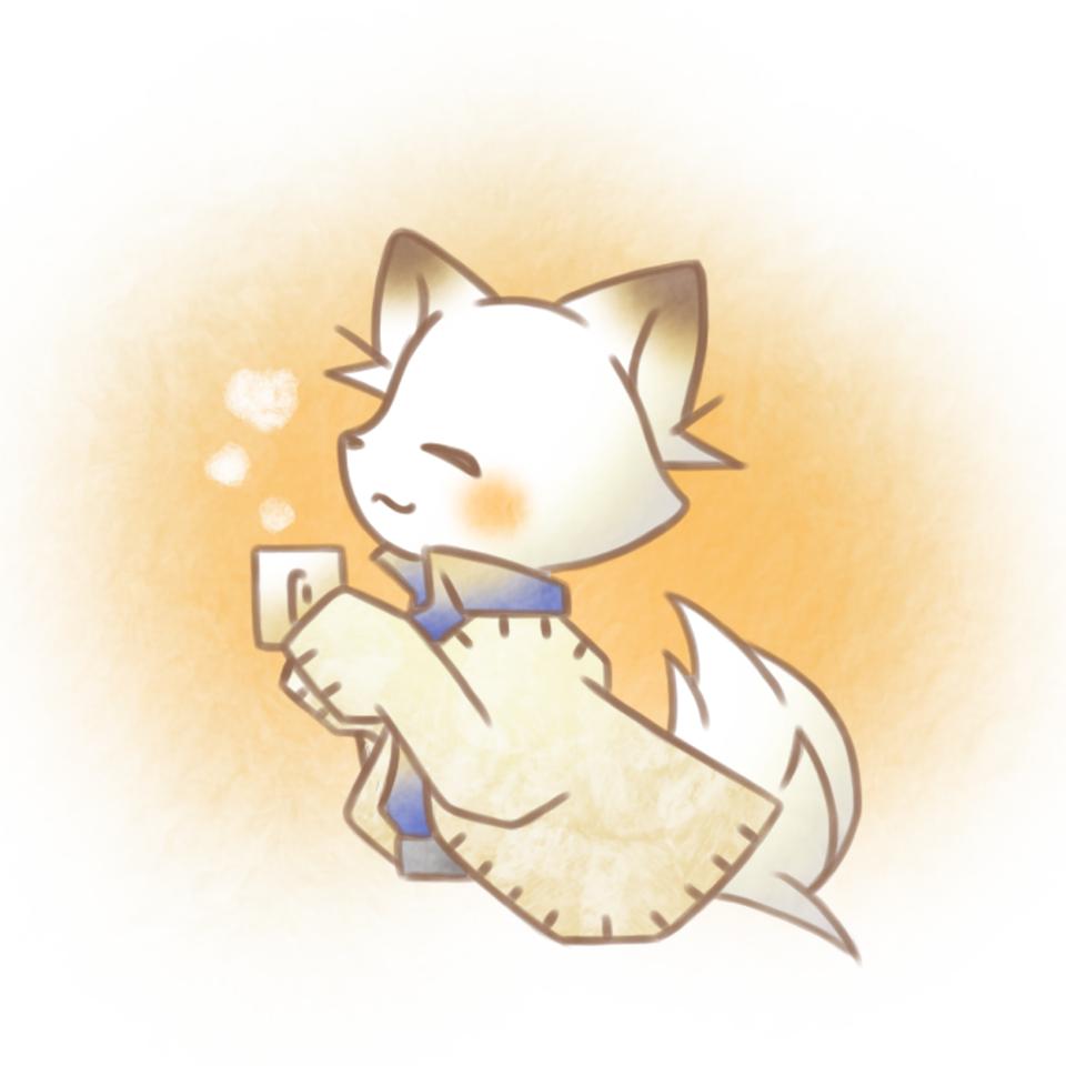 暖かい。 Illust of 兎卯子 digital animal fox original 小動物