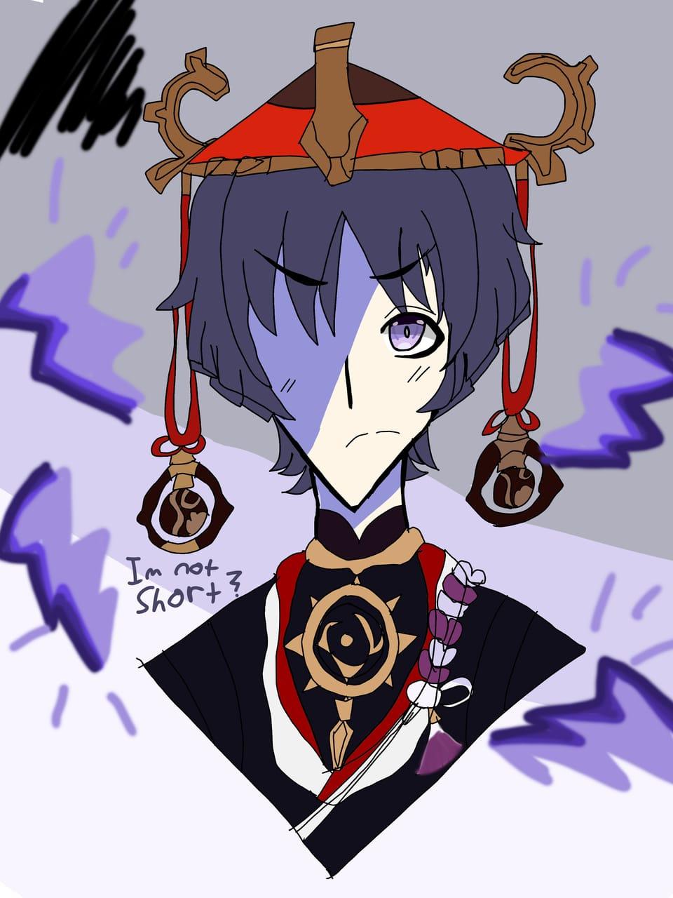 Drawing scaramouche from Genshin impact !! Illust of ~*ÄñïmêQµêêñÚwÚ*~ GenshinImpact